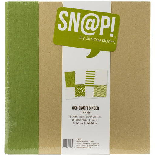 Simple Stories Sn@p 6x8 Binder Album - Green