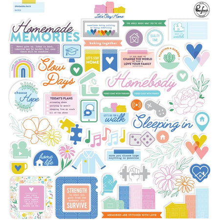 Pinkfresh Studio Let's Stay Home - Cardstock Die Cuts