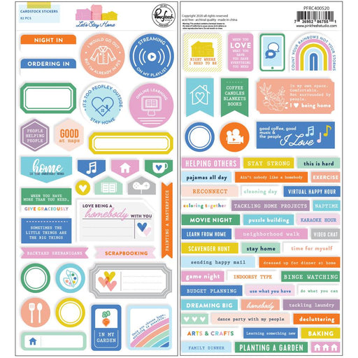 Pinkfresh Studio Let's Stay Home - Cardstock Stickers