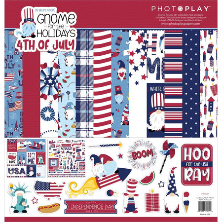 Photoplay Gnome for 4th of July - Collection Pack