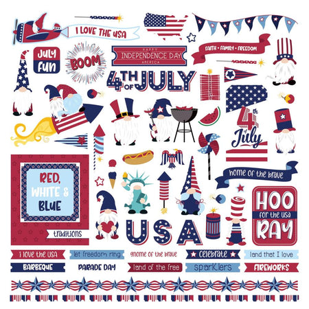 Photoplay Gnome for 4th of July - Element Stickers