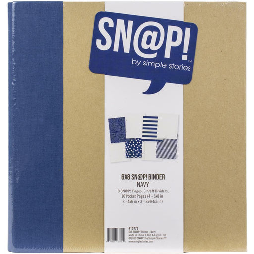 Simple Stories Sn@p 6x8 Binder Album - Navy