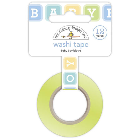 Doodlebug Design Washi Tape - Baby Boy Blocks