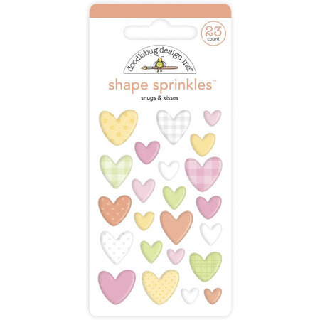 Doodlebug Design Bundle of Joy - Snugs and Kisses Shape Sprinkles