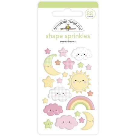 Doodlebug Design Bundle of Joy -Sweet Dreams Shape Sprinkles