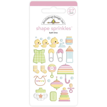 Doodlebug Design Bundle of Joy - Bath Time Shape Sprinkles