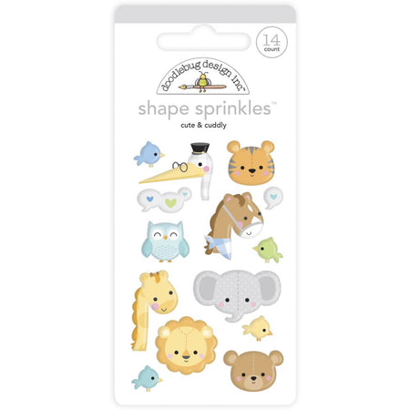 Doodlebug Design - Cute & Cuddly Shape Sprinkles