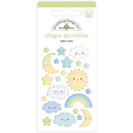 Doodlebug Design - Nighty Night Shape Sprinkles