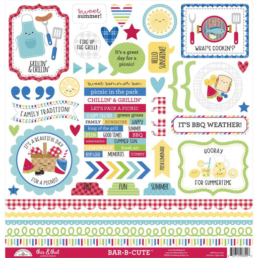 Doodlebug Design Bar-B-Cute - This & That Stickers