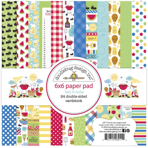 Doodlebug Design Bar-B-Cute - 6x6 Pad