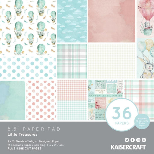 Kaisercraft Little Treasures - 6.5 x 6.5 Paper Pad