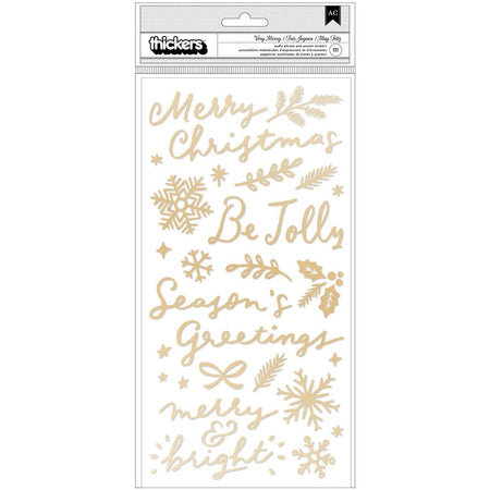 Crate Paper Hey Santa - Very Merry Accent and Phrase Thickers