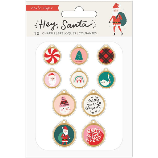 Crate Paper Hey Santa - Metal Charms