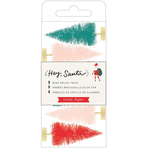Crate Paper Hey Santa - Wire Brush Tree Multicolour