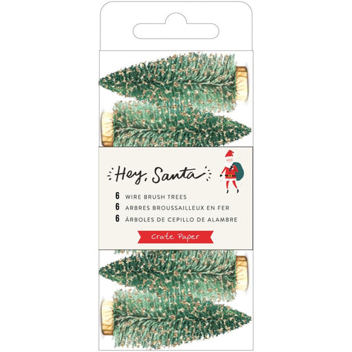 Crate Paper Hey Santa - Wire Brush Tree Green/Gold