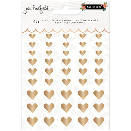 Pebbles Jen Hadfield The Avenue - Puffy Stickers Hearts