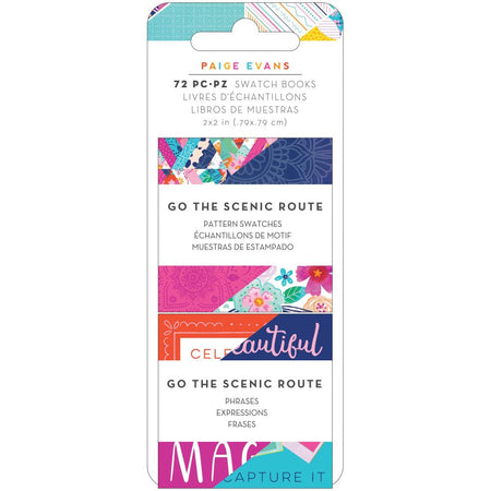 American Crafts Paige Evans Go The Scenic Route - Mini Swatch Books