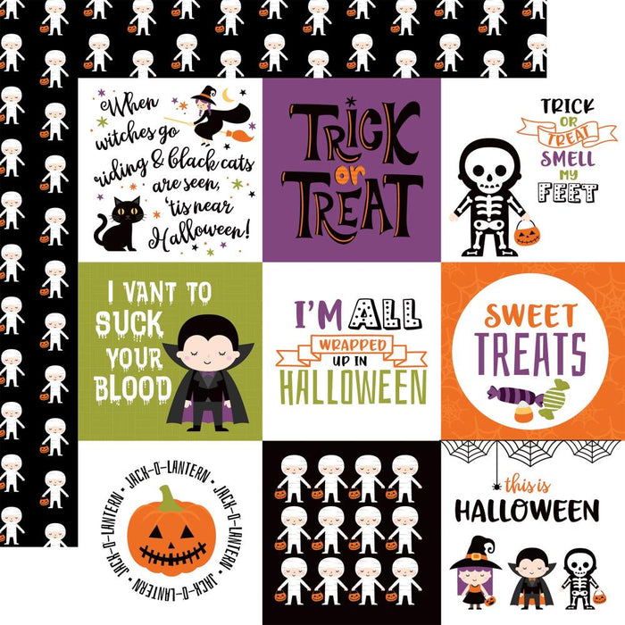 Echo Park I Love Halloween - 4x4 Journaling Cards