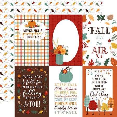 Echo Park Happy Fall - 4x6 Journaling Cards