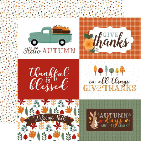 Echo Park Happy Fall - 6x4 Journaling Cards