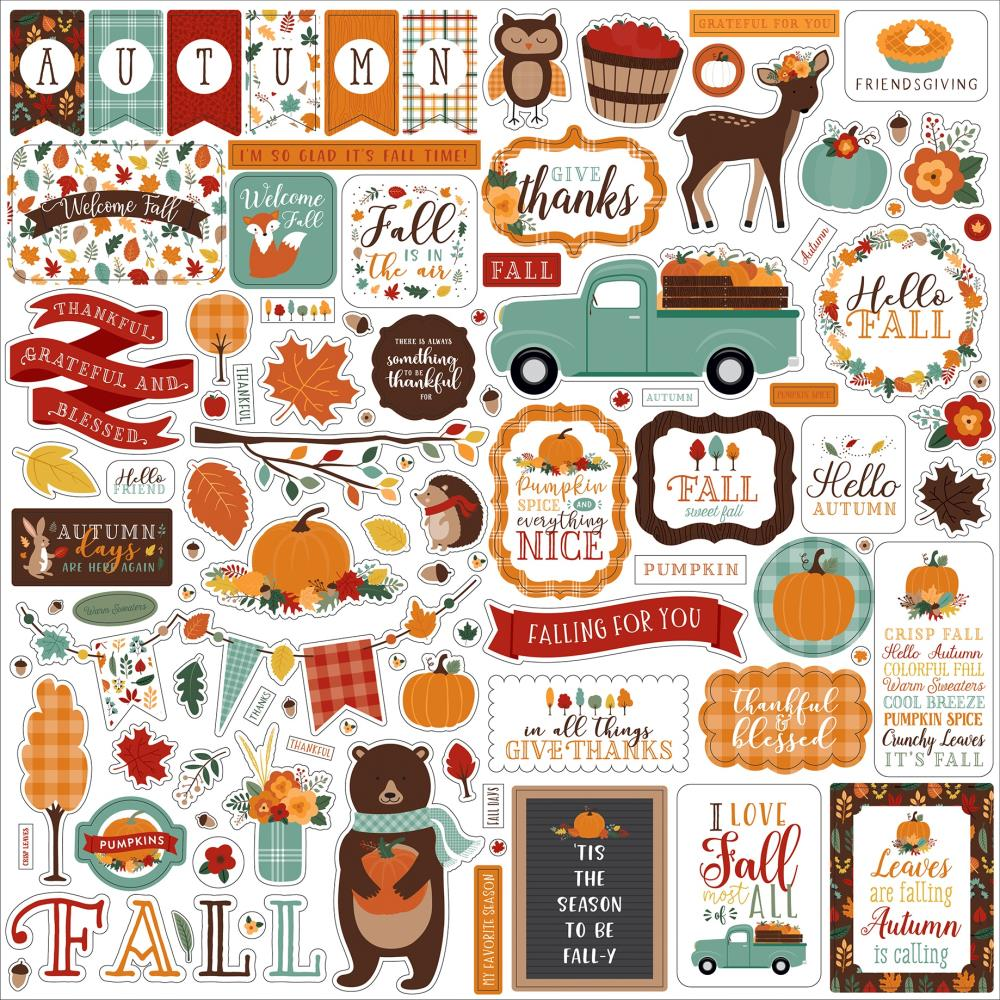 Echo Park Happy Fall - Element Stickers
