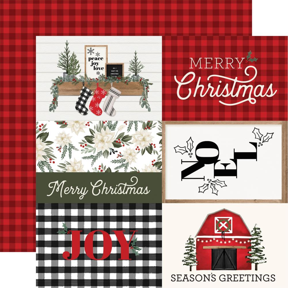 Carta Bella Farmhouse Christmas - 6x4 Journaling Cards