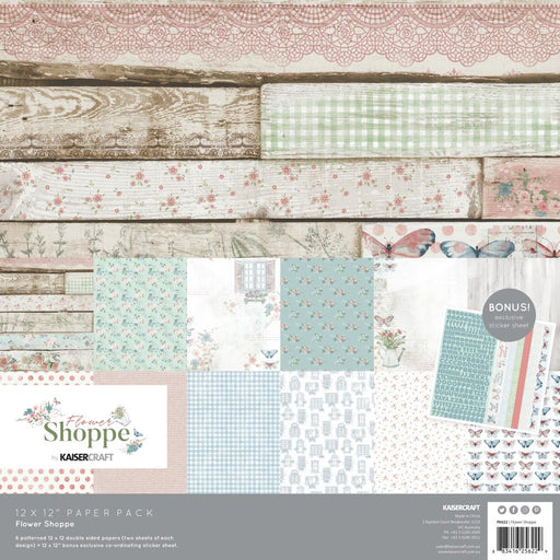 Kaisercraft Flower Shoppe - 12x12 Paper Pack