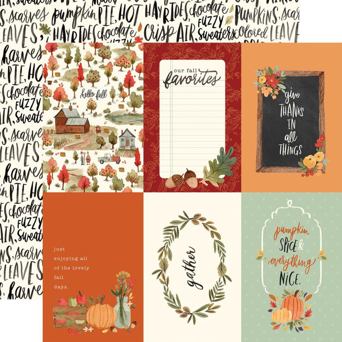 Carta Bella Hello Autumn - 4x6 Journaling Cards