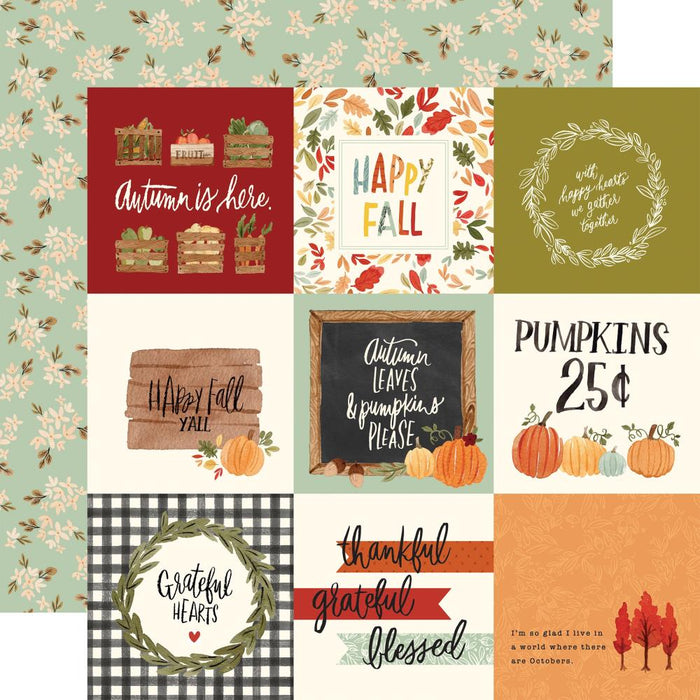 Carta Bella Hello Autumn - 4x4 Journaling Cards
