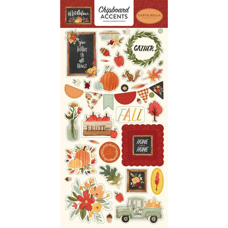 Carta Bella Hello Autumn - Chipboard Accents