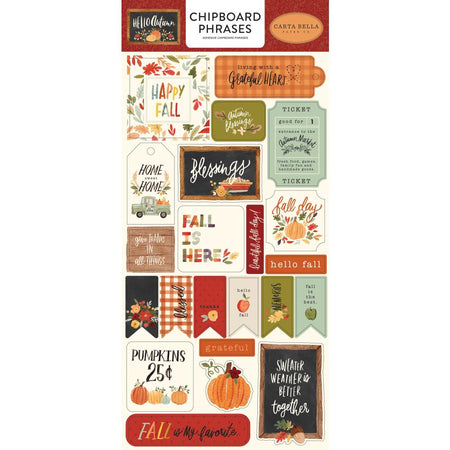 Carta Bella Hello Autumn - Chipboard Phrases