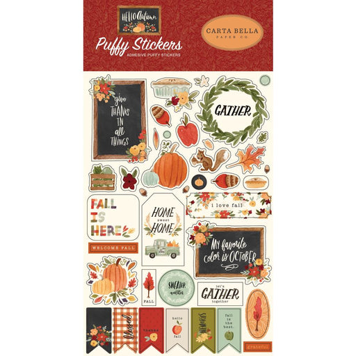 Carta Bella Hello Autumn - Puffy Stickers