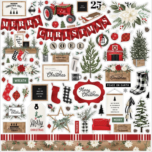 Carta Bella Farmhouse Christmas - Element Stickers