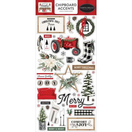 Carta Bella Farmhouse Christmas - Chipboard Accents