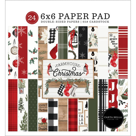 Carta Bella Farmhouse Christmas - 6x6 Paper Pad