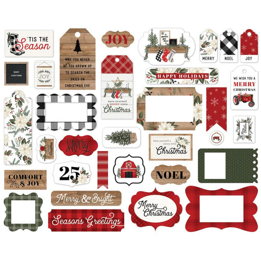 Carta Bella Farmhouse Christmas - Ephemera Frames & Tags