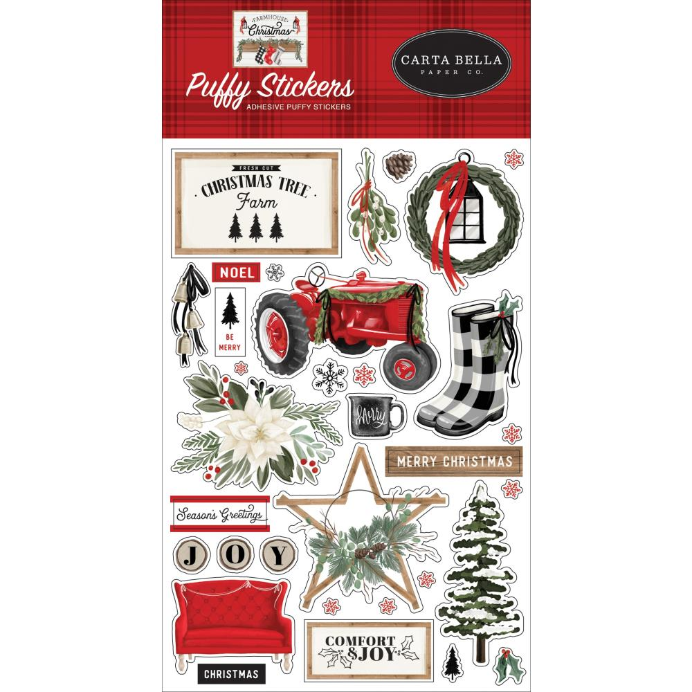 Carta Bella Farmhouse Christmas - Puffy Stickers