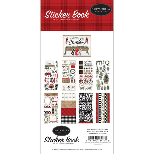 Carta Bella Farmhouse Christmas - Sticker Book