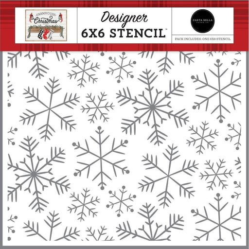 Carta Bella Farmhouse Christmas - Merry Snowflake Stencil