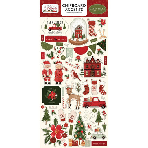 Carta Bella Hello Christmas - Chipboard Accents