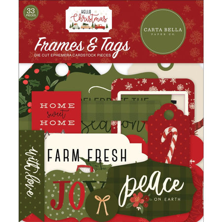 Carta Bella Hello Christmas - Frames and Tags Ephemera