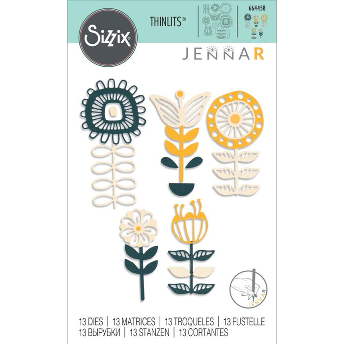 Sizzix Thinlits Die - Stackable Florals by Jenna Rushforth