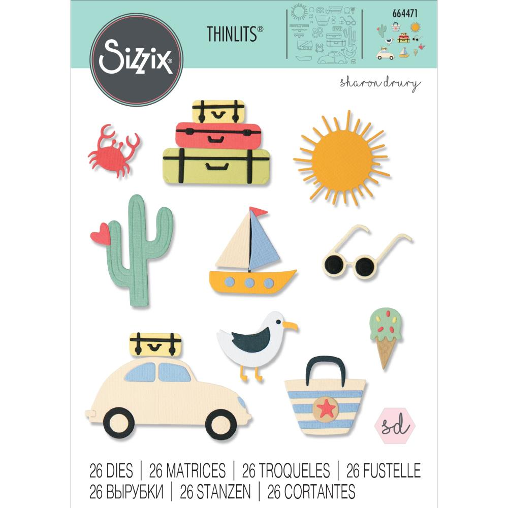 Sizzix Thinlits Die - Summer Days by Sharon Drury
