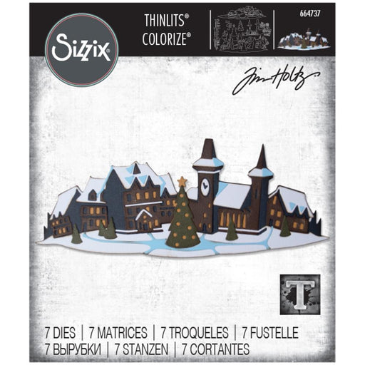 Sizzix Tim Holtz Alterations Thinlits Die - Holiday Village Colorize