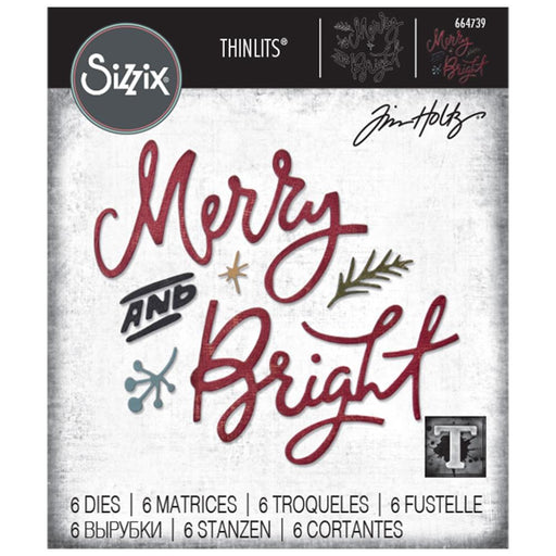 Sizzix Tim Holtz Alterations Thinlits Die - Merry & Bright