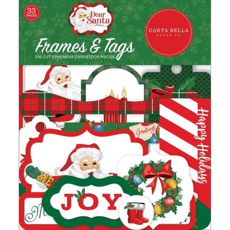 Carta Bella Dear Santa - Ephemera Frames and Tags