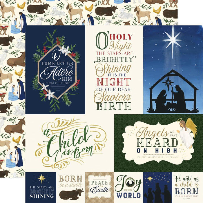 Echo Park Silent Night - Journaling Cards