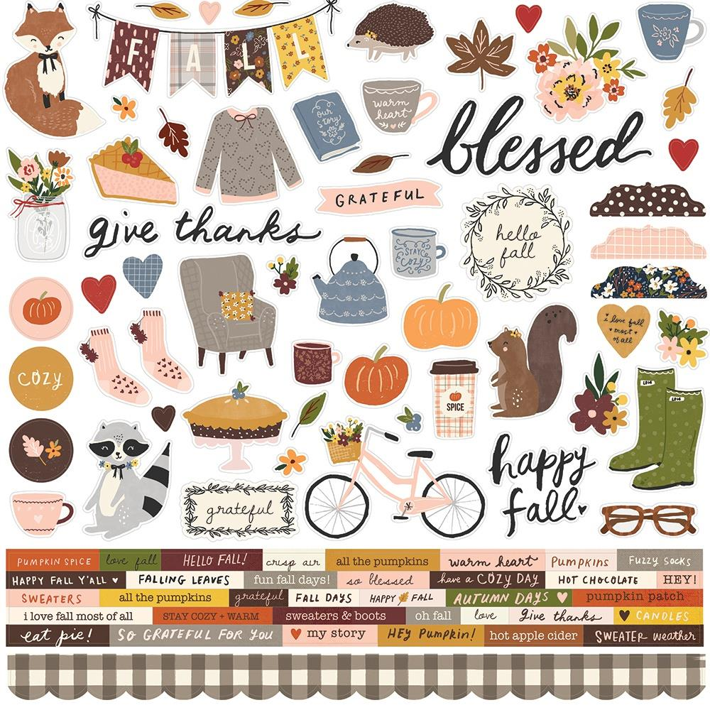 Simple Stories Cozy Days  - Combo Stickers