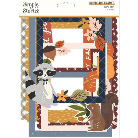 Simple Stories Cozy Days - Layered Chipboard Frames