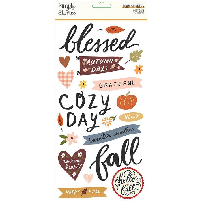 Simple Stories Cozy Days - Foam Stickers